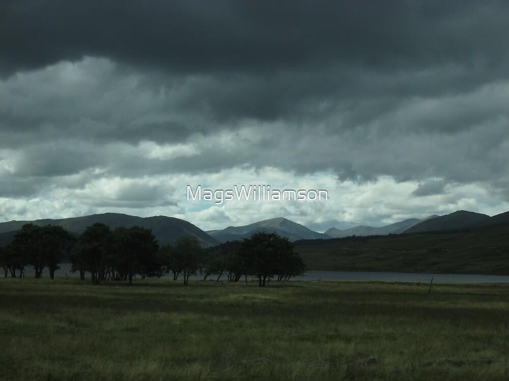 Scottish Rain Coming Over Glencoe by MagsWilliamson