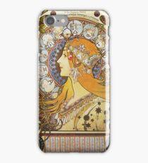 Alphonse Mucha - Ca La Plumezodiac iPhone Case/Skin