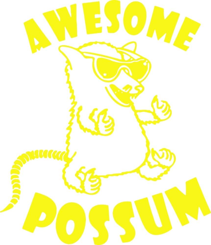 Awesome Possum by ironwomennt