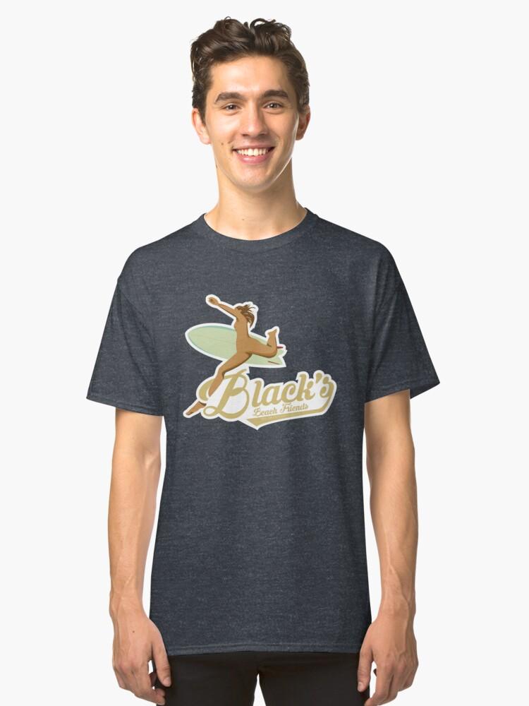 Black's Beach Friends Classic T-Shirt Front