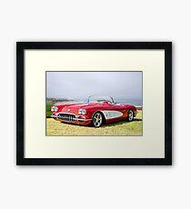 1958 Corvette 'Seaside' Roadster Framed Print