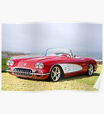 1958 Corvette 'Seaside' Roadster Poster