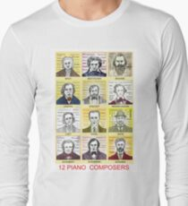 12 Piano Composer Portraits Long Sleeve T-Shirt