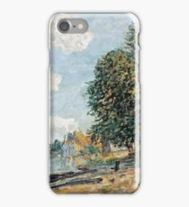 Alfred Sisley - Moret The Banks of the River Loing, 1877  iPhone Case/Skin