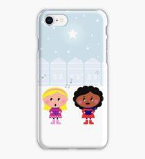 Winter Kids singing Silent Night iPhone Case/Skin