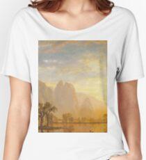 Albert Bierstadt - Valley of the Yosemite (1864)  Women's Relaxed Fit T-Shirt
