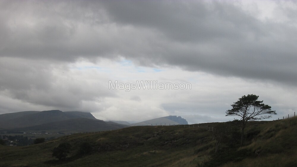 View of Old Man of Storr from Penifiler, Skye, Scotland by MagsWilliamson