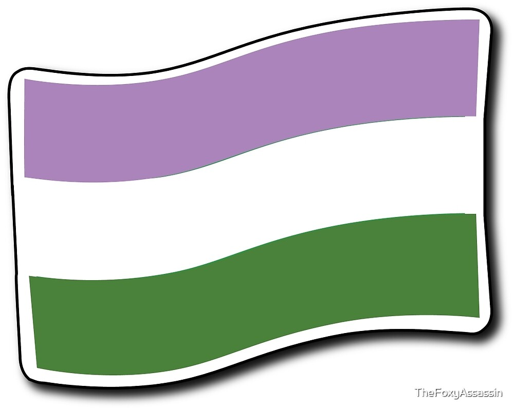 Genderqueer Flag by TheFoxyAssassin