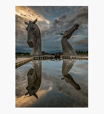 The Kelpies - Falkirk and Helix Park Photographic Print