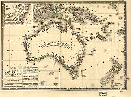 Map of Australia (New Holland) - 1826 by Djidiouf-PD