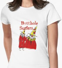 Butthole Surfers Clowns Womens Fitted T-Shirt