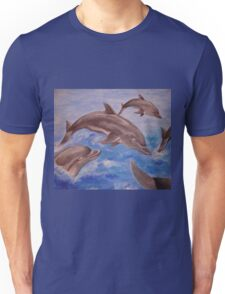 Jumping Dolphins And  Blue Sea T-Shirt