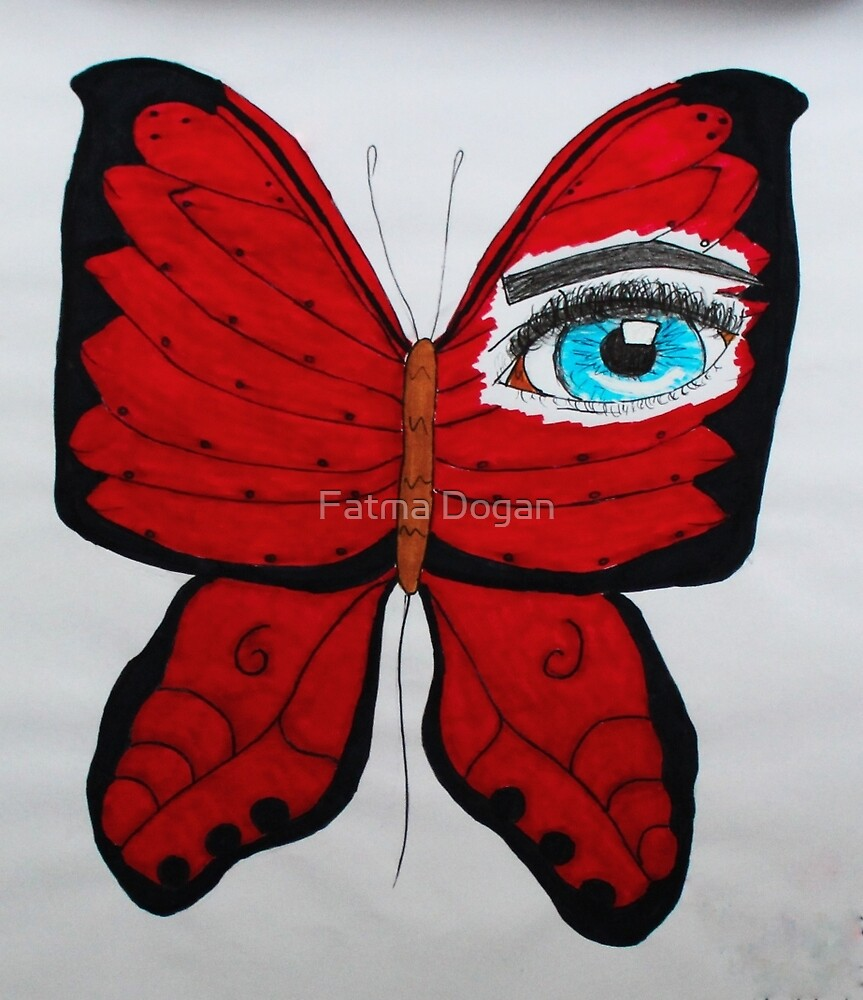 THE RED BUTTERFLY by Fatma Dogan