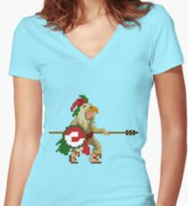 Eagle Knight Women's Fitted V-Neck T-Shirt