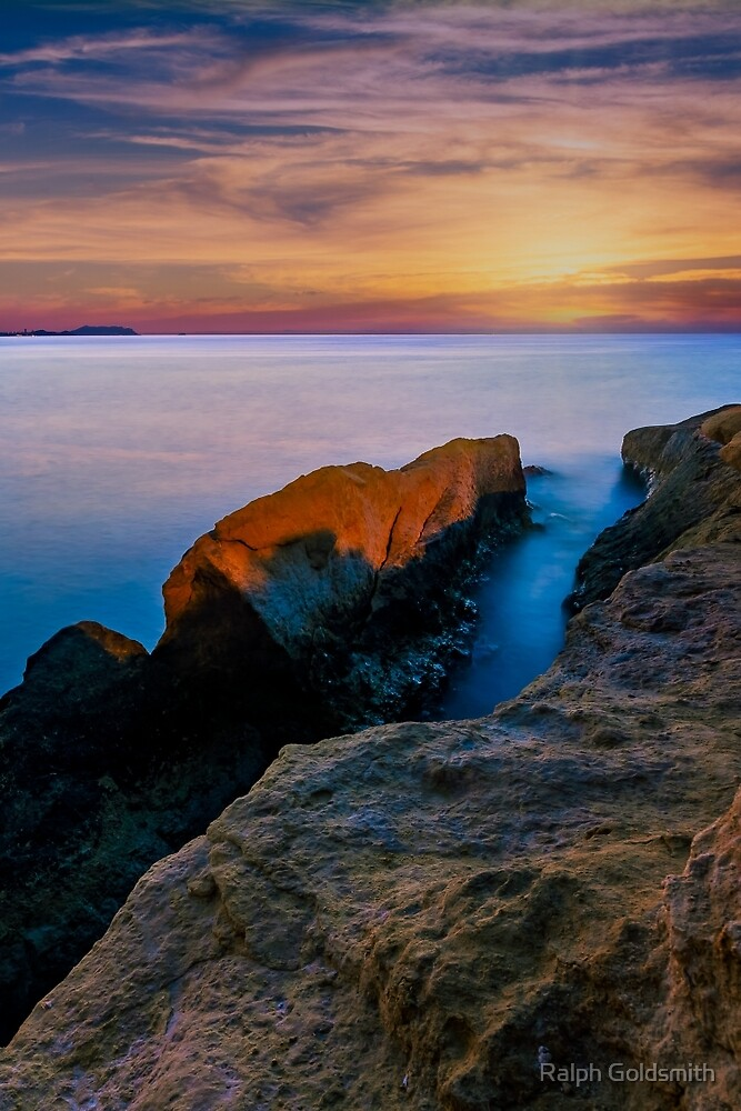 Knife edge rock at dawn by Ralph Goldsmith