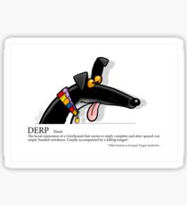 Greyhound Glossary: Derp Sticker