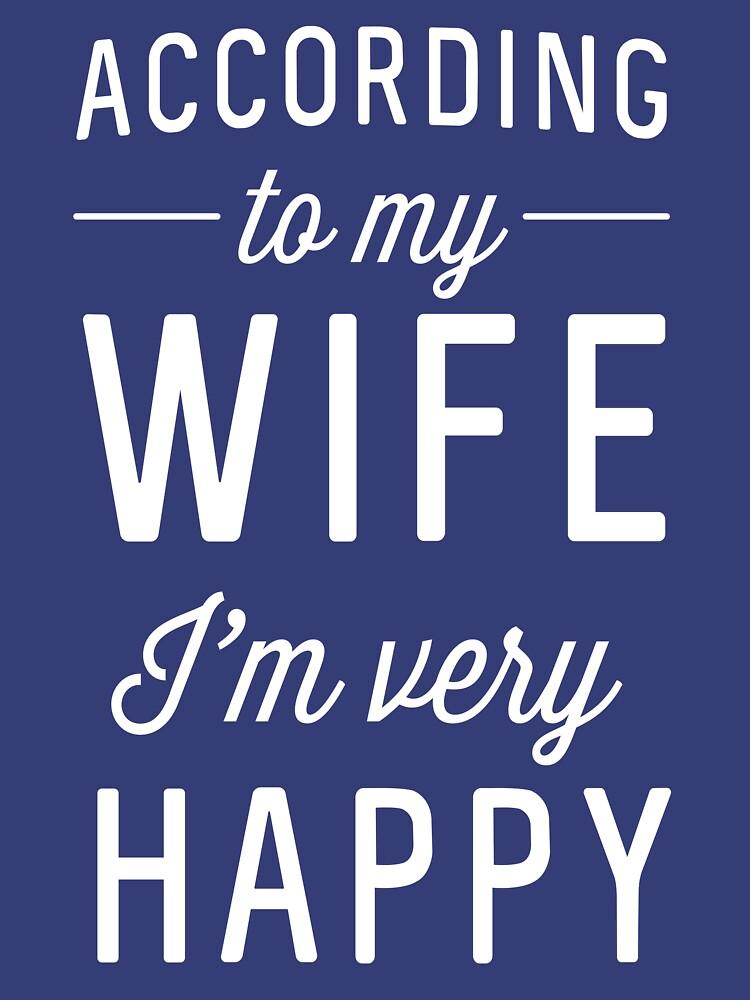 According to my wife I'm very happy by familyman