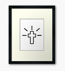 Christianity cross Framed Print