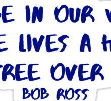 Bob Ross Happy Little Tree Sticker