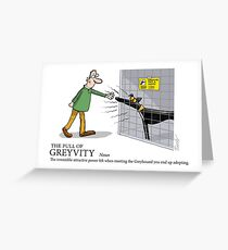 Greyhound Glossary: Greyvity Greeting Card