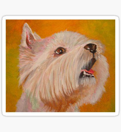 West Highland White Terrier Portrait Sticker