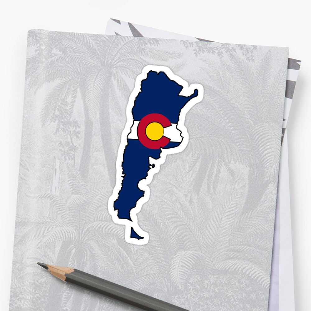 Colorado flag Argentina outline by artisticattitud