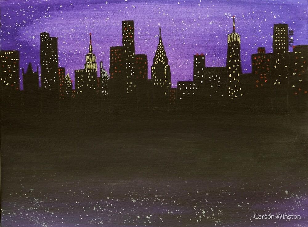 New York City Skyline by Carson Winston