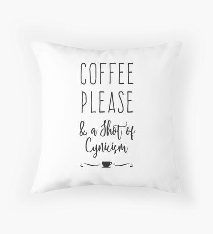 Coffee Please Throw Pillow