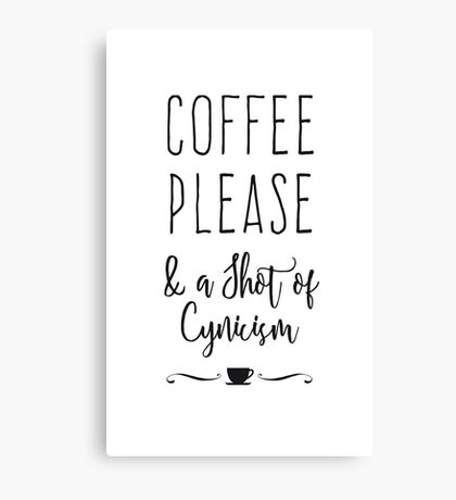 Coffee Please Canvas Print
