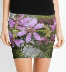 Flowers and reflections in water Mini Skirt