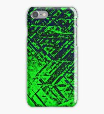 Techno Stone, Green (Texture, Background) iPhone Case/Skin