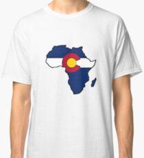 Colorado flag Africa outline Classic T-Shirt