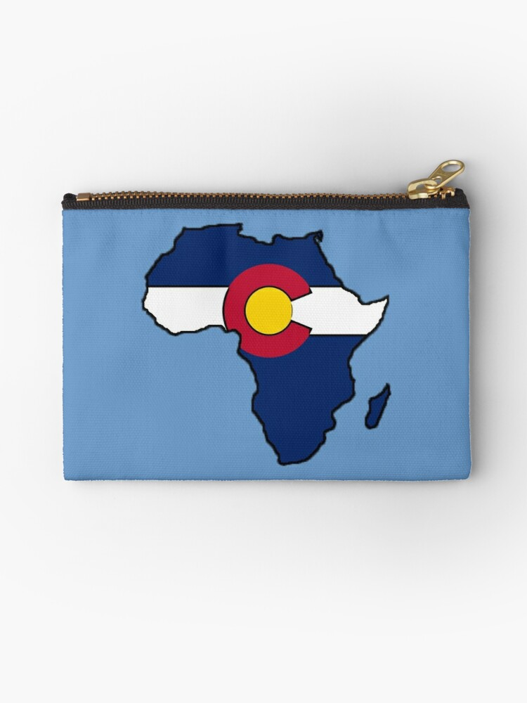 Colorado flag Africa outline by artisticattitud