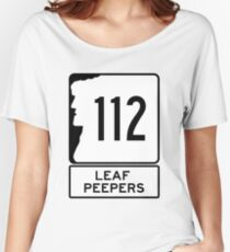 NH 112 - New Hampshire Leaf Peeper Highway, Kancamagus Scenic Byway Women's Relaxed Fit T-Shirt