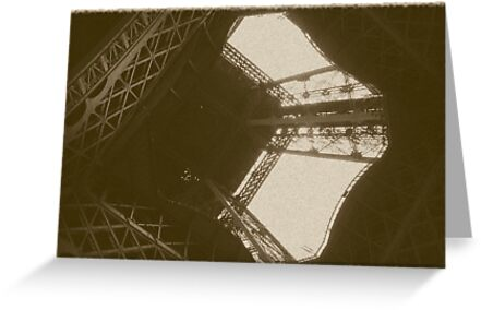 Eiffel Tower In Sepia by jherbert101