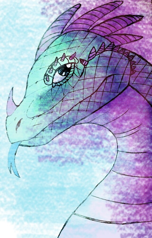 Dragon face by SarahArundale