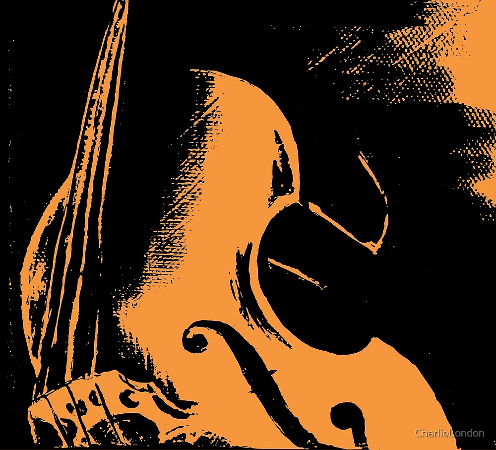 Double Bass Silhouette Painting by CharlieLondon