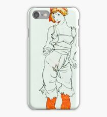 Egon Schiele - Woman in Underclothes and Stockings (Wally Neuzil) (1913)  iPhone Case/Skin