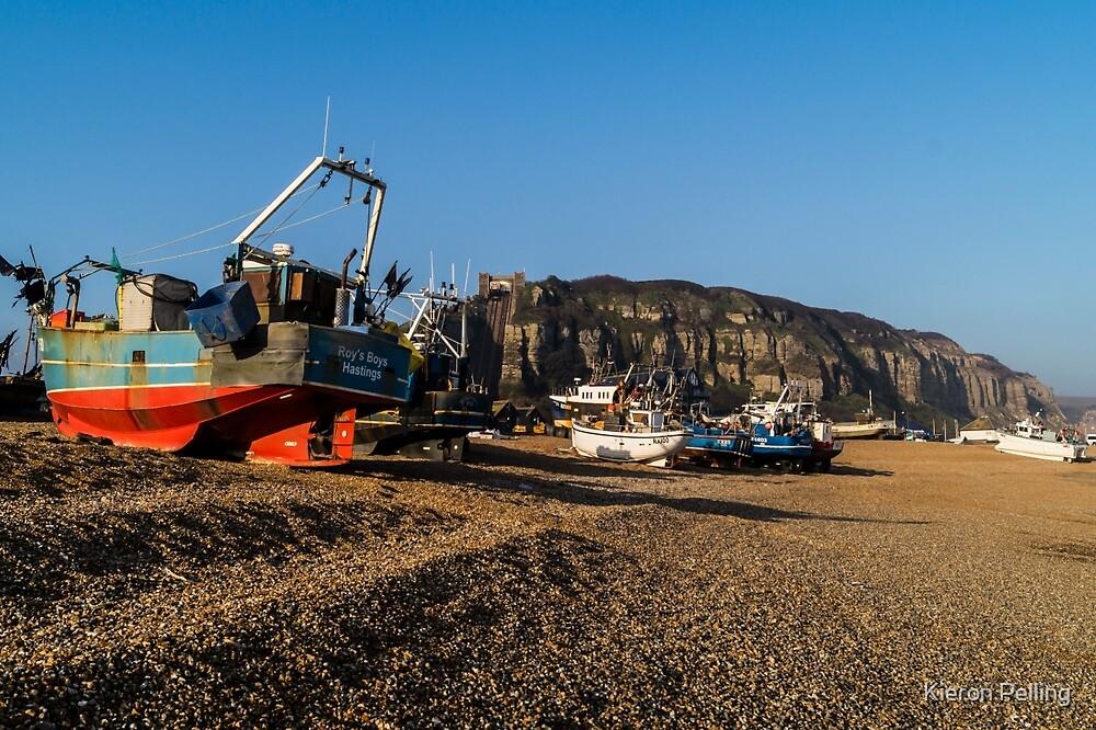 Hastings Fishing Fleet by Kieron Pelling