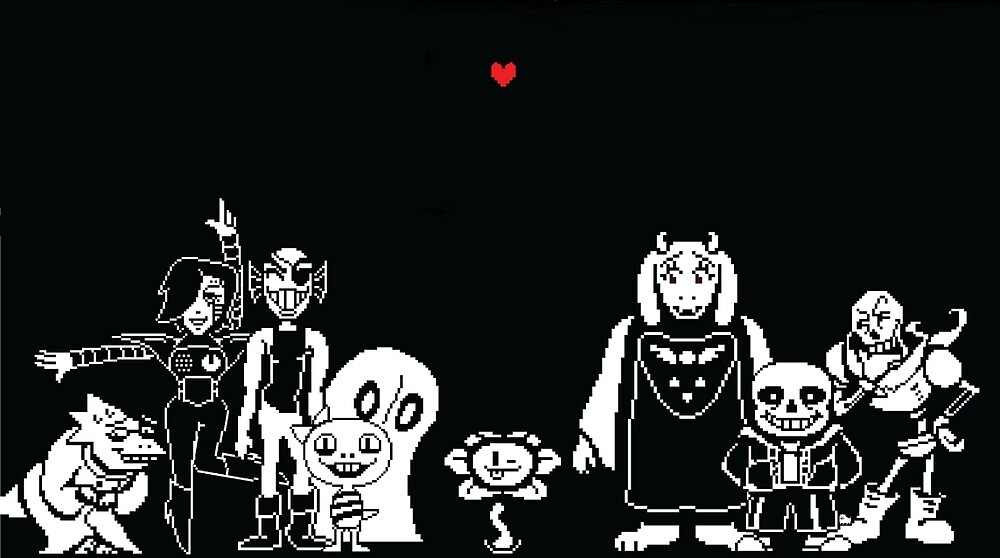 Undertale-The main characters by Pulze