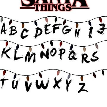 Stranger Things Santa Things Christmas Top by ClassicClothing