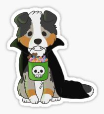 Halloween Australian Shepherd Sticker