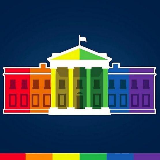rainbow white house by marandapenn17