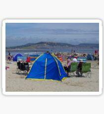 The Beach At Noon (Photo to Accompany Writing) Sticker