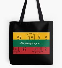 Lithuania - Live through any air - by Flagging Awesome Tote Bag