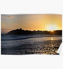 Sunset over Criccieth Castle Poster