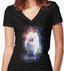 Gabe the Dog - BORK Women's Fitted V-Neck T-Shirt