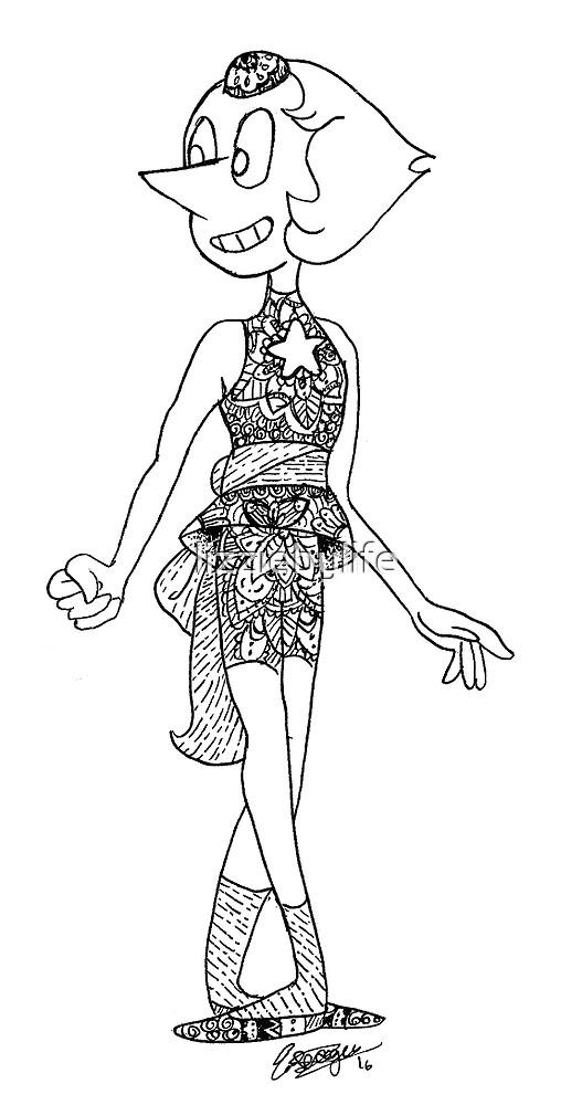 Pearl - Steven Universe Mandala by lizziebylife