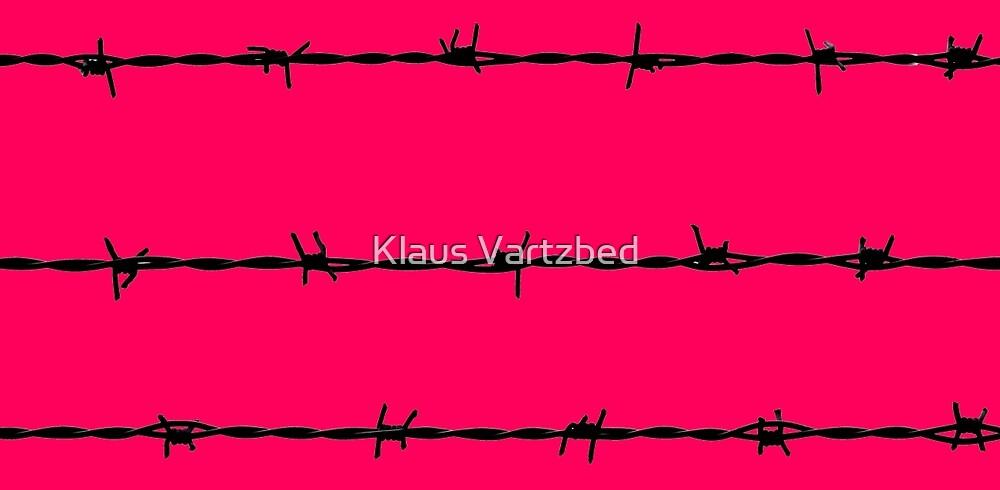 pink barbed wire punk crazy by Klaus Vartzbed