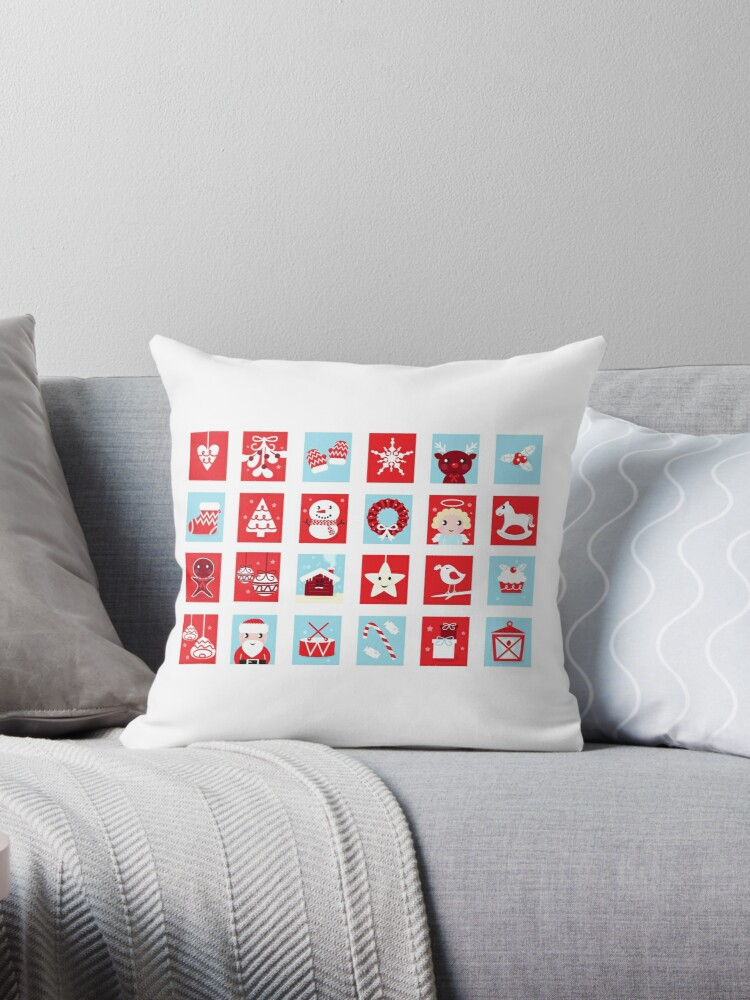Christmas icons and design elements - red and blue by Bee and Glow Illustrations Shop